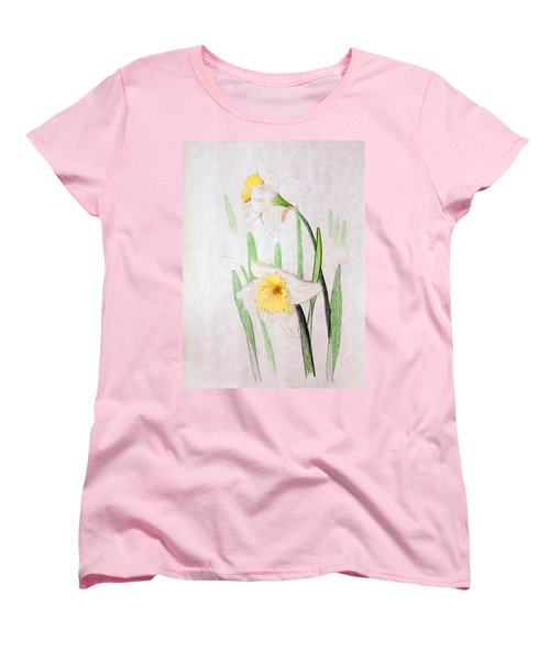 Daffodils Women's T-Shirt (Standard Cut) by J R Seymour