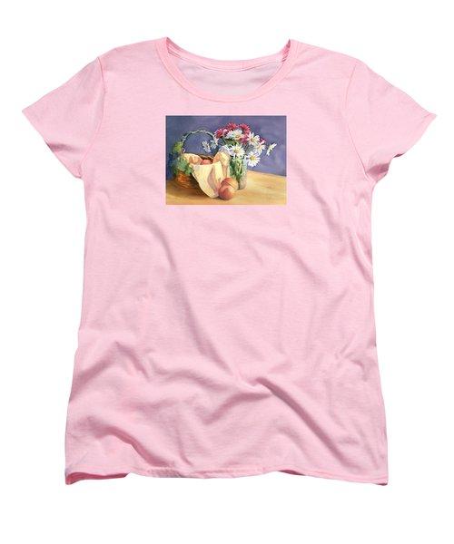 Daisies And Peaches Women's T-Shirt (Standard Cut)