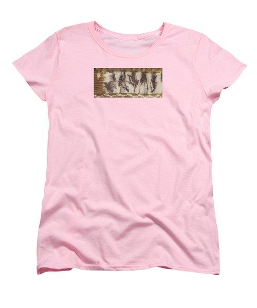 Dance Of The Eucalyptus Leaves Women's T-Shirt (Standard Cut) by Carolyn Doe