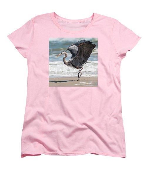 Dancing Heron #2/3 Women's T-Shirt (Standard Cut) by Patti Deters
