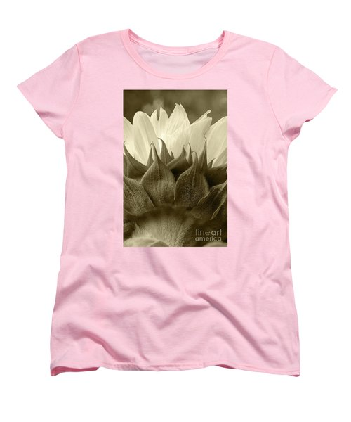 Women's T-Shirt (Standard Cut) featuring the photograph Dandelion In Sepia by Micah May