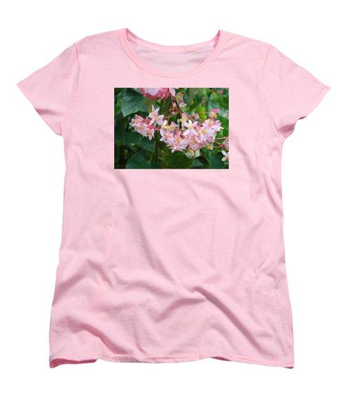 Delicate Flowers Women's T-Shirt (Standard Cut) by Karen Nicholson