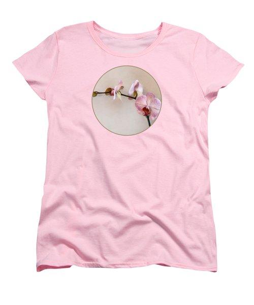 Delicate Pink Phalaenopsis Orchids Women's T-Shirt (Standard Cut)