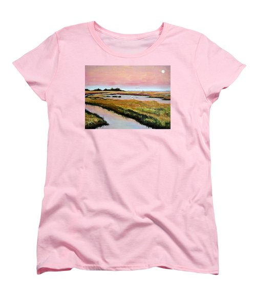 Women's T-Shirt (Standard Cut) featuring the painting Delta Sunrise by Suzanne McKee