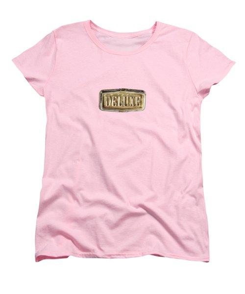 Deluxe Chrome Emblem Women's T-Shirt (Standard Cut) by YoPedro
