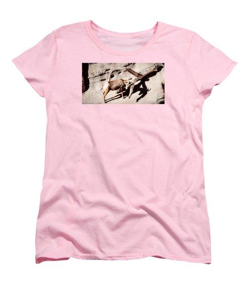 Desert Bighorn Ram Women's T-Shirt (Standard Cut) by Lawrence Burry