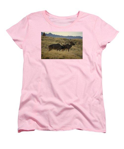 Women's T-Shirt (Standard Cut) featuring the photograph Desert Palm Landscape by Guy Hoffman