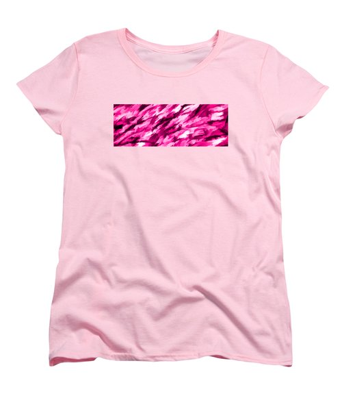Designer Camo In Hot Pink Women's T-Shirt (Standard Cut) by Bruce Stanfield