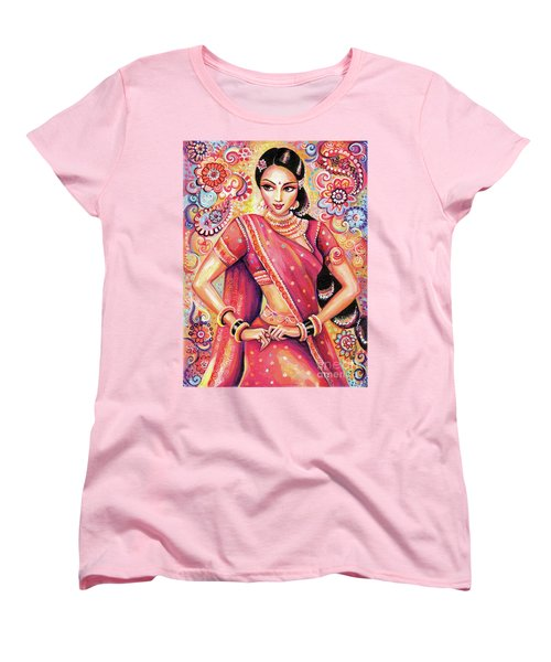 Women's T-Shirt (Standard Cut) featuring the painting Devika Dance by Eva Campbell