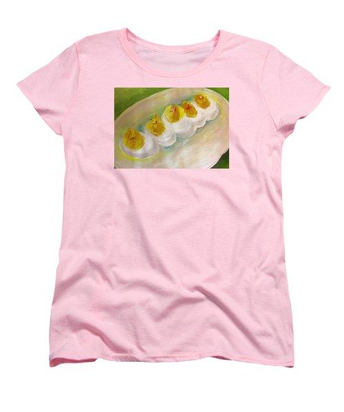 Devilled Eggs Women's T-Shirt (Standard Cut) by Lisa Kaiser