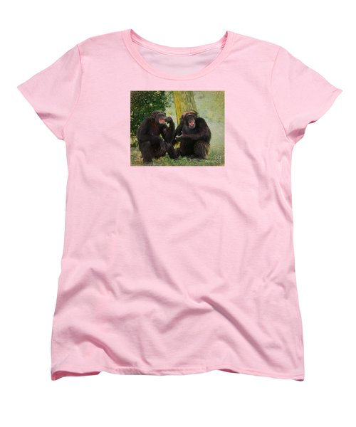 Women's T-Shirt (Standard Cut) featuring the painting Did You See That by Judy Kay