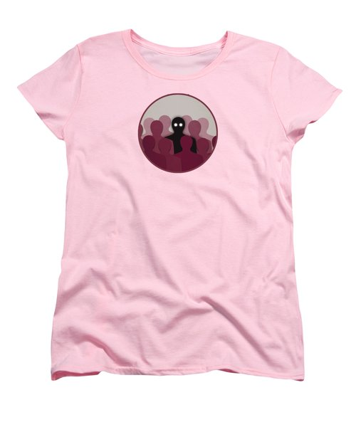 Different And Alone In Crowd Women's T-Shirt (Standard Cut)