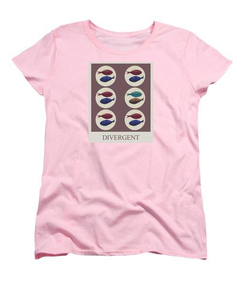Women's T-Shirt (Standard Cut) featuring the digital art Divergent by Galen Valle