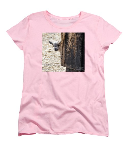 Do You Think Mom Saw Me Women's T-Shirt (Standard Cut) by Judy Wolinsky