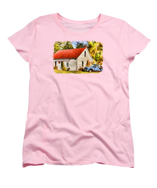 Door County Gus Klenke Garage Women's T-Shirt (Standard Cut) by Christopher Arndt