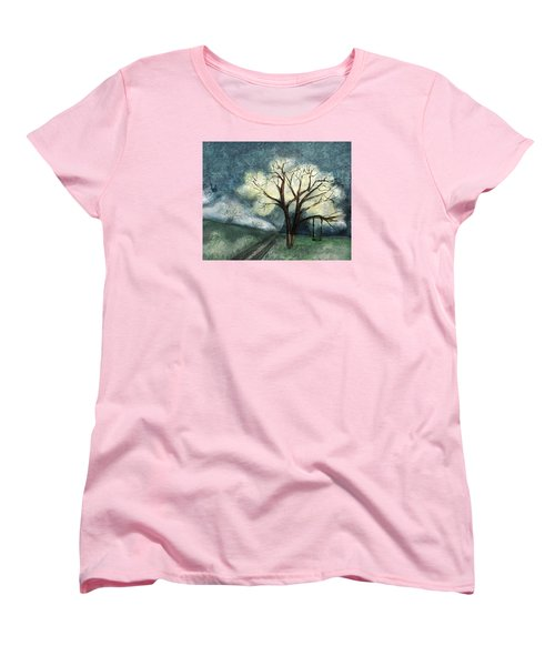Women's T-Shirt (Standard Cut) featuring the painting Dream Tree by Annette Berglund