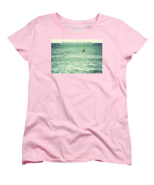 Drop In The Ocean Surfer Vintage Women's T-Shirt (Standard Cut) by Terry DeLuco