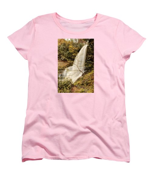 Dry Falls In North Carolina Women's T-Shirt (Standard Cut) by Penny Lisowski
