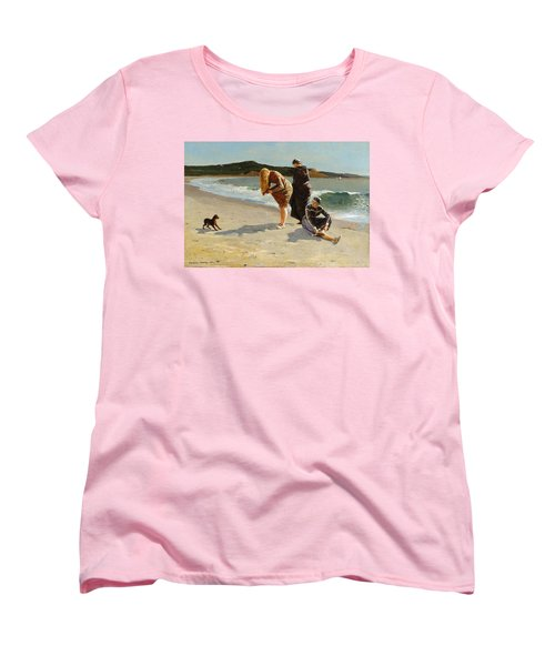 Women's T-Shirt (Standard Cut) featuring the painting Eagle Head, Manchester, Massachusetts - 1870 by Winslow Homer