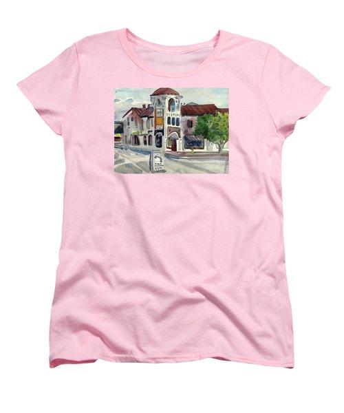 El Camino Real In San Carlos Women's T-Shirt (Standard Cut) by Donald Maier