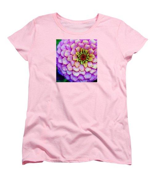 Electrifying Zinna Women's T-Shirt (Standard Cut) by Bruce Bley