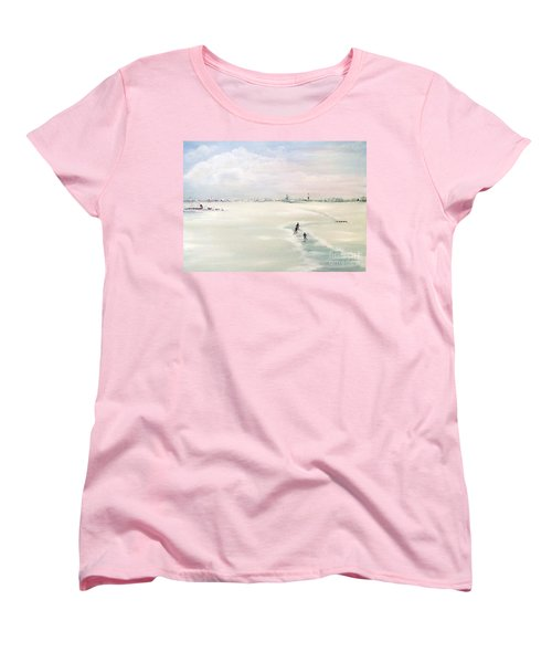 Women's T-Shirt (Standard Cut) featuring the painting Elf Stedentocht- Eleven Cities Tour by Annemeet Hasidi- van der Leij