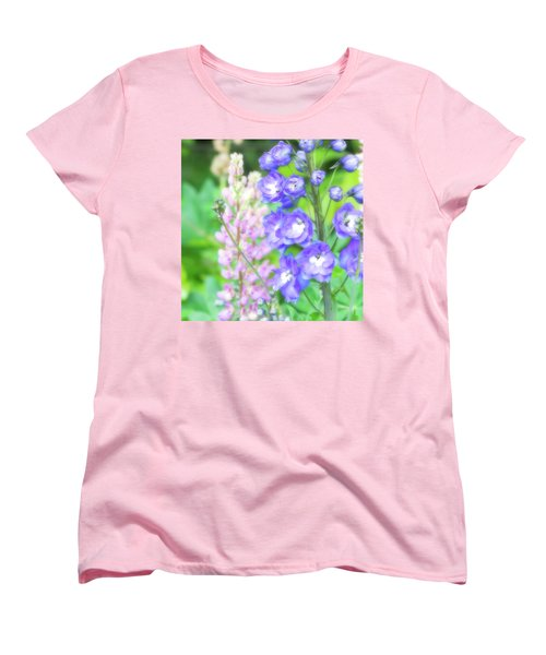 Women's T-Shirt (Standard Cut) featuring the photograph Escape To The Garden by Bonnie Bruno