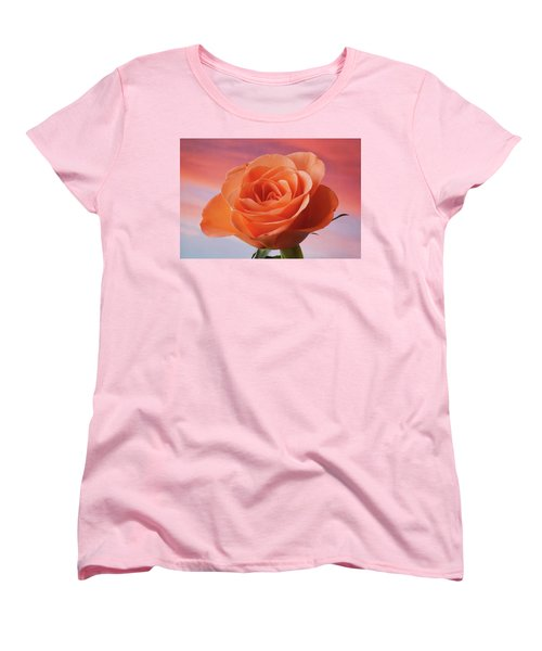 Women's T-Shirt (Standard Cut) featuring the photograph Evening Rose by Terence Davis
