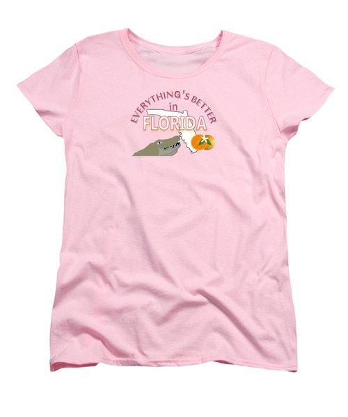 Everything's Better In Florida Women's T-Shirt (Standard Cut) by Pharris Art