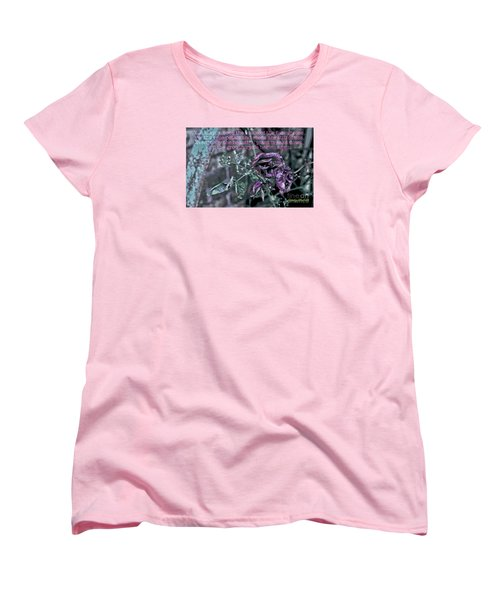 Women's T-Shirt (Standard Cut) featuring the photograph Fading Rose by Sandy Moulder