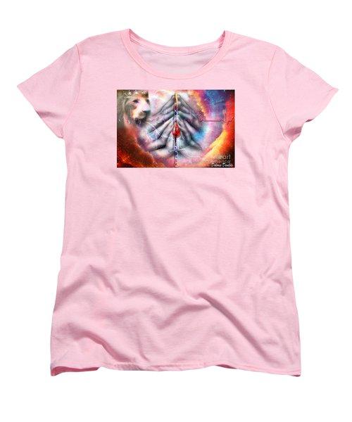 Women's T-Shirt (Standard Cut) featuring the digital art Faith Filled Prayer by Dolores Develde