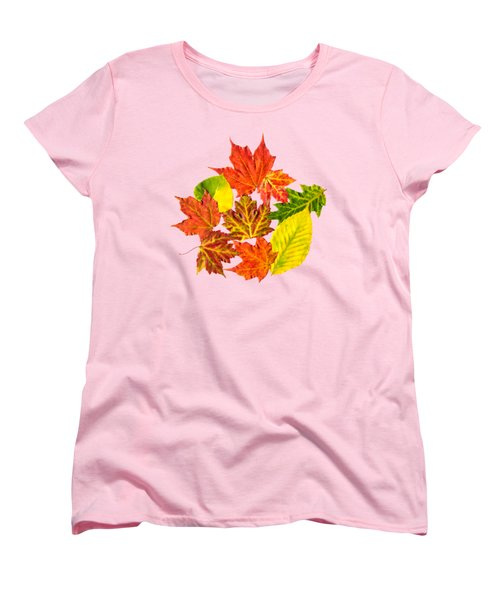 Fall Leaves Pattern Women's T-Shirt (Standard Cut) by Christina Rollo
