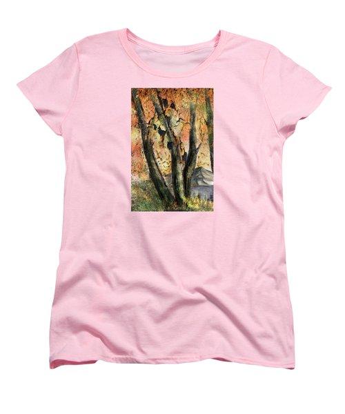 Fall Splendor  Women's T-Shirt (Standard Cut) by Annette Berglund
