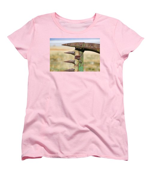 Women's T-Shirt (Standard Cut) featuring the photograph Farm Equipment 1 by Ely Arsha