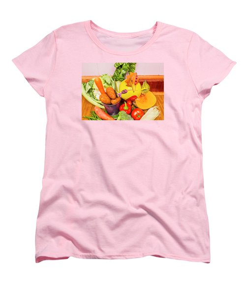 Farm Fresh Produce Women's T-Shirt (Standard Cut) by Jorgo Photography - Wall Art Gallery