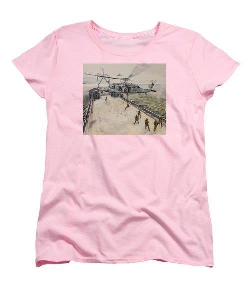 Fast Rope Women's T-Shirt (Standard Cut) by Stan Tenney