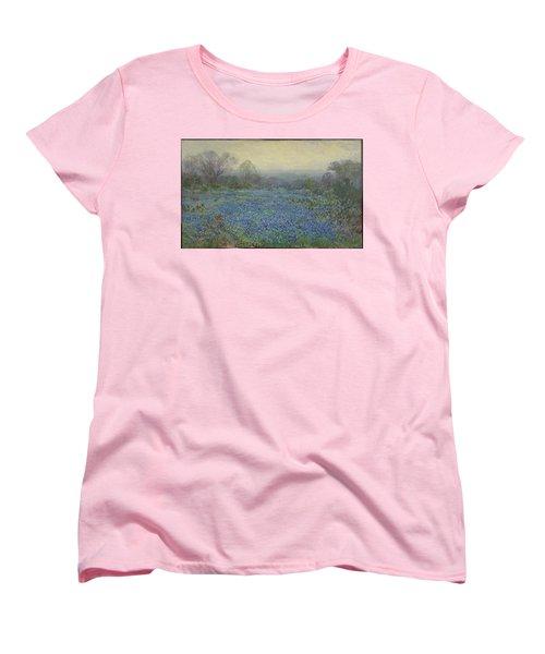 Field Of Bluebonnets Women's T-Shirt (Standard Cut) by Julian Onderdonk
