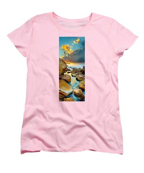 Fire In The Sky Women's T-Shirt (Standard Cut) by Az Jackson