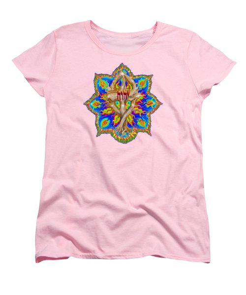 Fire Tree With Yhwh Women's T-Shirt (Standard Cut) by Hidden Mountain