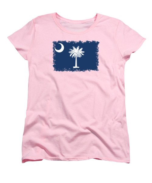 Flag Of South Carolina Authentic Version Women's T-Shirt (Standard Cut) by Bruce Stanfield