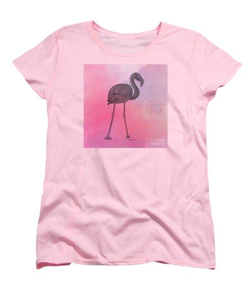 Flamingo5 Women's T-Shirt (Standard Cut) by Megan Dirsa-DuBois