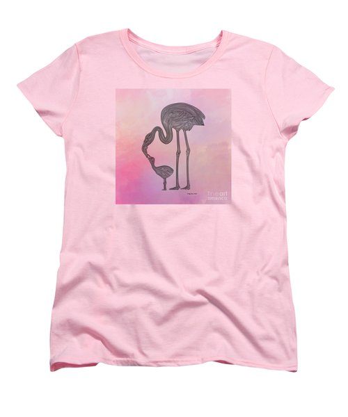 Flamingo6 Women's T-Shirt (Standard Cut) by Megan Dirsa-DuBois