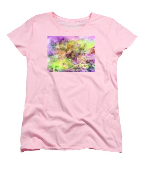 Floral Pastel Abstract Women's T-Shirt (Standard Cut) by Mikki Cucuzzo