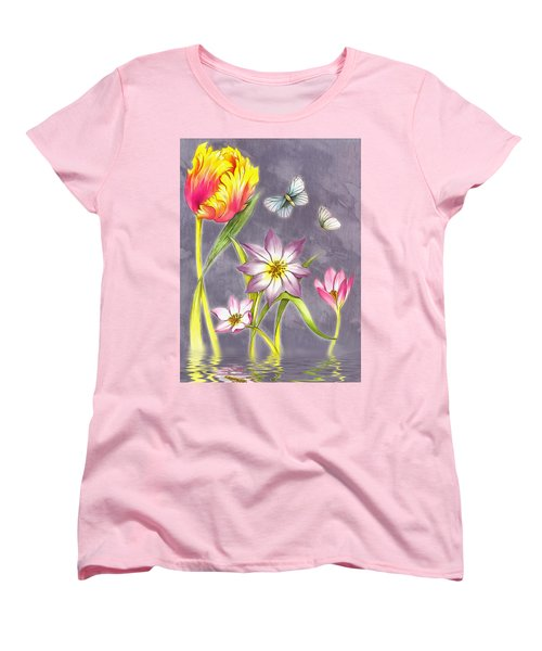 Floral Supreme Women's T-Shirt (Standard Cut) by Mario Carini