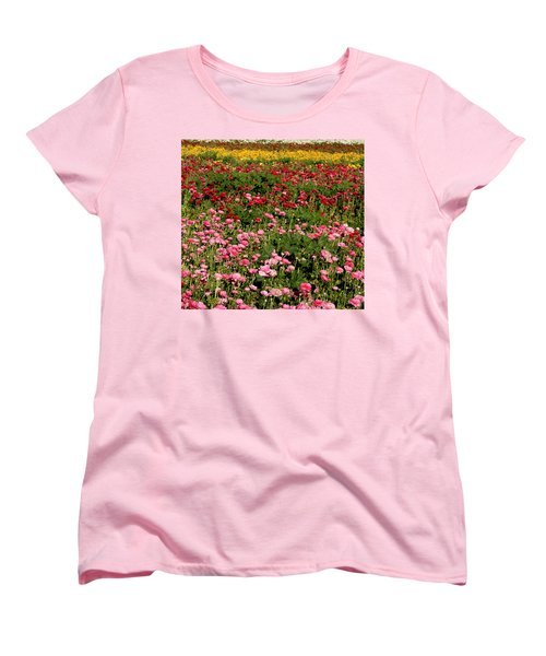Flower Fields Women's T-Shirt (Standard Cut) by Christopher Woods