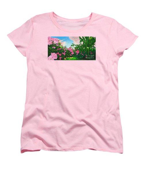 Flower Garden Xi Women's T-Shirt (Standard Cut) by Michael Frank