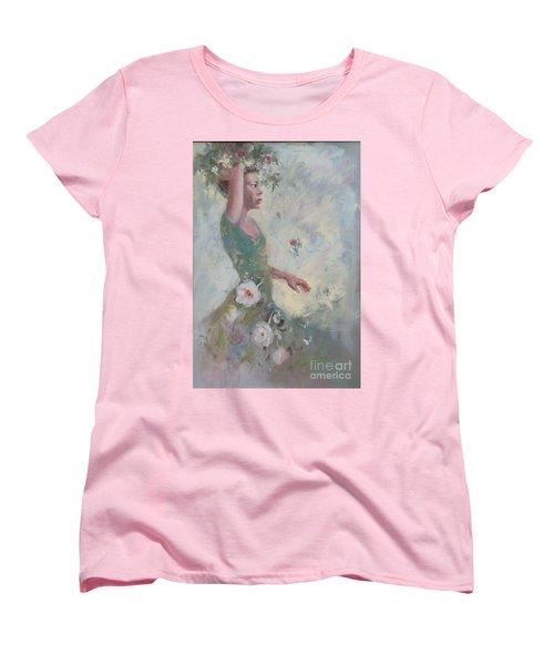 Flower Vender Women's T-Shirt (Standard Cut) by Gertrude Palmer