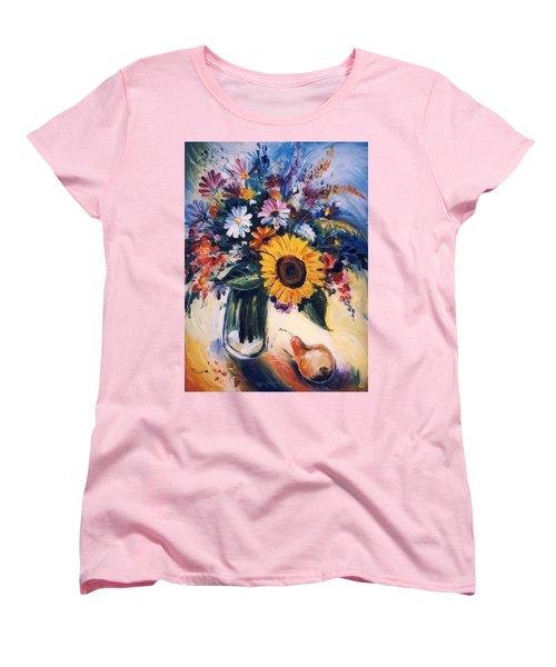 Flowers Women's T-Shirt (Standard Cut) by Mikhail Zarovny