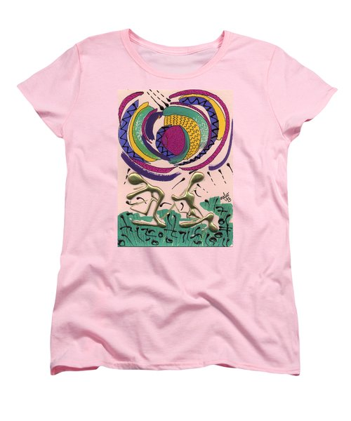 Women's T-Shirt (Standard Cut) featuring the mixed media Follow Me by Angela L Walker
