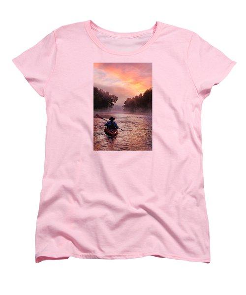 Following The Light Women's T-Shirt (Standard Cut) by Robert Charity